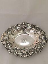 Black Starr & Frost Antique Oval Sterling Silver Bowl, Art Nouveau By Gorham