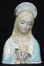 Busto scultura madonna ceramica Pottery Giovanni Ronzan 1900sc Lenci ESSEVI EPF