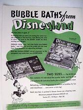 Vintage DISNEYLAND BUBBLE BATH DEAL Advertisement Flyer 1950's w/ Donald Duck  *