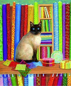 Quilt Shop Cat 1000 pc Jigsaw Puzzle by SunsOut