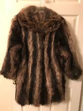 Genuine Raccoon Fur Charcoal/Black/Grey Womens Coat Made in Canada