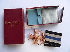 Baviera militar mérito cruz 3. clase en estuche con fabricantes (308)