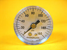 "Ashcroft  15W1005SH 01B 160#  Brass Gauge 1-1/2"" SS Polycarbonate 0/160 PSI"