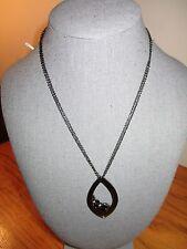 NWT Black Metal Pendant Necklace