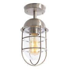 Stainless Steel 1 Light Caged Outdoor Ceiling Modern Lantern Lighting Litecraft
