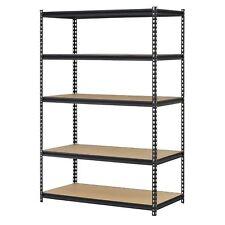 HEAVY DUTY STORAGE 5 Level Adjustable Shelves Garage Steel Metal Shelf Unit