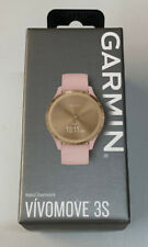 Garmin 010-02238-01 Vivomove 3S Light Gold W/Rose Case & Silicone Band Watch