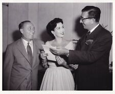 ANN MILLER DORE SCHARY JOE PASTERNAK Original CANDID Vintage 1954 MGM Photo