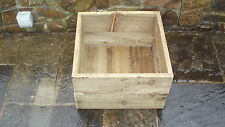 Hand Made Wooden Flower Box, Herb Vegetable Planter - 45 x 45 x 30cm