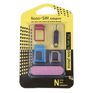 Universal 5 in 1 sim card adapters micro sim card tray slot ho zgS1
