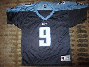Steve McNair #9 Baltimore Ravens Super bowl Champion NFL Jersey Youth LG 14-16