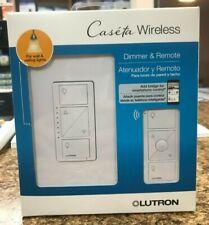Lutron Caseta Wireless Smart Wall Light Dimmer Switch + Remote  (P-PKG1W-WH-R)