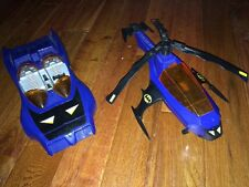 Vintage 1986 Kenner Super Powers Batman Batcopter Helicopter + 1984 Batmobile DC