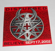 Disturbed Believe Sticker Original Promo (square) 4x4