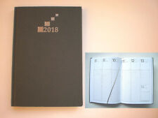Buchkalender 2019 DIN A5 Wochentimer Terminplaner grau