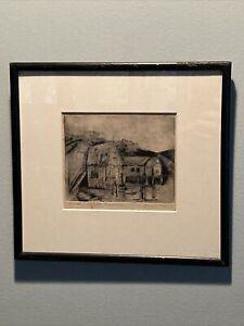 John Worthington Gregory Lithograph ~ Samuel Lopez Estate Provincetown ~ Signed