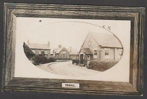 Postcard Yoxall near Lichfield Staffordshire the Parish Hall house and School RP