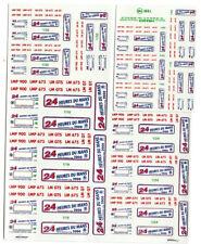 DECALS calcas decal placche LE MANS 2000 PLATEAUX 1/43 1/24 1/18 virage