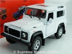 LAND ROVER DEFENDER MODEL CAR WHITE 1:36 SCALE WELLY NEX LR49720W 4X4 SWB 90 K8
