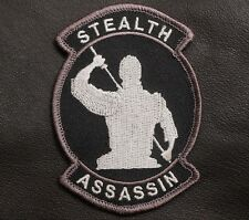 STEALTH ASSASSIN TACTICAL US ARMY COMBAT BADGE SWAT VELCRO® BRAND FASTENER PATCH