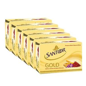Santoor Gold Soap 125g Pack of 6 with Fast Delivery