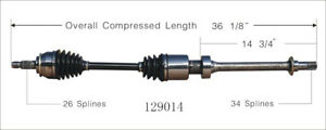 CV Axle Shaft Front Right WorldParts 129014 fits 02-09 Mini Cooper