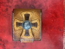 Handmade Leather Wallet Iron Cross