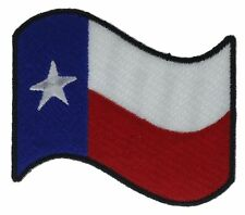 Texas Flag Black Border Art 3 Inch Embroidered Hat Shoulder Patch F2D15B