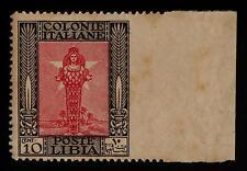 LIBIA - 1924/29 - Pittorica - 10 cent. non dentellato a destra