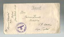 1944 Belgrade Yugoslavia Feldpost censored cover to Tagebau Slave Labor CAmp ltr