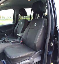 VW Amarok Tailored Waterproof Genuine Fitting Leather Look Seat Covers 2009+