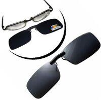 Sonnenbrille ohne Rahmen Clip Überbrille mit Klicksystem Brillen Aufsatz schwarz