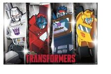 TRANSFORMERS ~ GENERATION ONE FOUR CHARACTER PANELS ~ 22x34 ~ NEW/ROLLED! G1