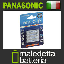 Batterie Mini Stilo Ricaricabili Pronte all'uso Panasonic AAA - 750mAh -4pz (GY1