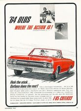 1964 Oldsmobile Cutlass F-85 Convertible Advertisement Print Art Car Ad K39
