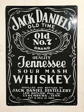 JACK DANIELS VINTAGE TIN SIGN OLD No 7 BRAND