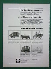 5/1982 PUB BOMBARDIER ILTIS MOTORCYCLE TRUCK ALPINE CARRIER SNOW TRACK AD
