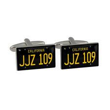 JJZ 109 Car Plate Cufflinks Gift Boxed for McQueen fans cuff links BNIB
