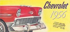1956 Chevrolet Bel Air 210 ORIGINAL Brochure mw5240-64PP5F