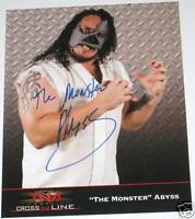 TNA THE MONSTER ABYSS HAND SIGNED AUTOGRAPHED 8X10 PROMO PHOTO WITH COA