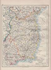 1921 MAP ~ IRELAND SOUTH EAST ~ WATERFORD TIPPERARY MEATH CAVAN LONGFORD