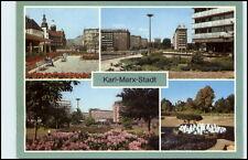 KARL-MARX-STADT Chemnitz Mehrbild-AK DDR Park der Jugend, Strasse der Nationen
