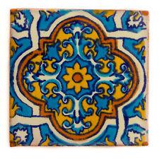 """Fairly Traded Handmade Ceramic Mexican Talavera Tile – Hector (T12860-33)"