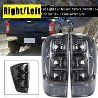 FOR NISSAN FRONTIER NAVARA NP300 D23 2014-2019 SMOKE BLACK TAIL LIGHT LAMP TINT