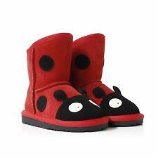 UGG Kids Ladybug Deluxe Australian Sheepskin Boots Red
