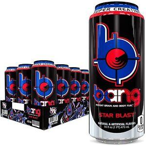 VPX Bang Energy Drink Super Creatine Star Blast 16 oz ( Pack of 12 )