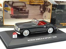 Nostalgie 1/43 - Simca 8 Sport 1949 Noire