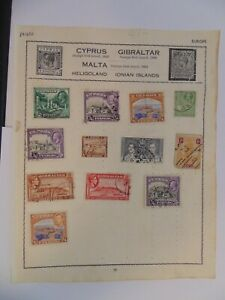PA 420 - Page Of Mixed Cyprus & Gibraltar Stamps