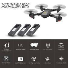 VISUO XS809HW RC Quadcopter Wifi FPV Foldable Selfie Drone 2MP 3 Battery J9K3