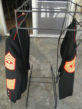 U.S. Marine Corps Master Gunnery Seargent 2 Sets of Uniforms Blue and Evening